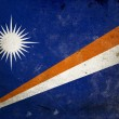Grunge Flag the Marshall Islands — Stock Photo