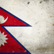 Grunge Flag the Nepal — Stock Photo
