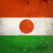 Grunge Flag Niger — Stock Photo