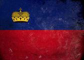 Bandiera grunge nel liechtenstein — Foto Stock