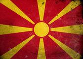 Grunge Flag the Macedonia — Stock Photo