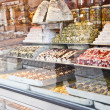 Turkish sweets in display — Stockfoto