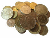 Old russian and soviet coins from different times — Stockfoto