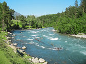άγρια καύκασο zelenchuck ποταμού. arhyz. τσερκεσία — 图库照片