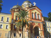 New Aphon monastery. Orthodox church. Abkhazia republic — Stock Photo