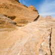 Stock Photo: Drained water canal in sanstone rocks of Wad iRum dessert