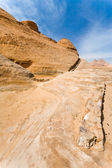 Drained water canal in sanstone rocks of Wad iRum dessert — Stock Photo