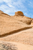 Drained water canal in sandstone rocks of Wadi Rum dessert — Stock Photo