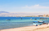 Urban beach in Aqaba city, Jordan — Stock Photo