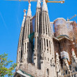 Towers of Sagrada Familia basilica in Barcelona - 图库照片