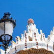 Architectural elements in Park Guell - Stock Photo