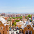 Panorama of Barcelona city from Park Guell — Fotografia Stock  #10532630