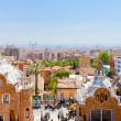 Постер, плакат: Panorama of Barcelona city from Park Guell