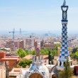 Panorama of Barcelona city from Park Guell — 图库照片