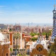 Panorama of Barcelona city from Park Guell — Stock Photo