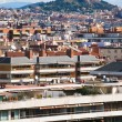 Above view on living area Barcelona city — Stock Photo #10532752