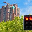 Stock Photo: Building construction and red light