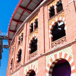 Bullring Arena de Barcelona on Placa Espanya — Stock Photo