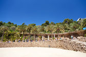 Ground terrace in Park Guell, Barcelona — Stock Photo