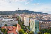 View on Barcelona and Tibidabo Mountain — Stock Photo