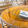 No smoking table in outdoor cafe — 图库照片 #8340866