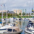 Stock Photo: Urbmooring of boats in Copenhagen, Denmark