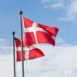 Danish flags — Stock Photo
