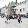 Amagertorv - most central square in Copenhagen — Stock Photo #8405318