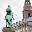 Statue of Absalon in Copenhagen, Denmark — Stock Photo #8405335