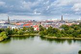 Prohlédni na střed v kodani, dánsko — Stock fotografie