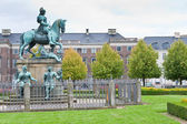 Christian V statue in Kongens Nytorv in Copenhagen — Stock Photo