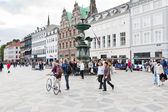 Amagertorv - the most central square in Copenhagen — 图库照片