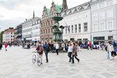 Amagertorv-在哥本哈根最中央广场 — 图库照片