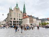 Amagertorv - det mest centrala torget i köpenhamn — Stockfoto