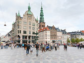 Amagertorv - het meest centrale plein in kopenhagen — Stockfoto