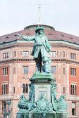Estatua almirante niels juel en copenhague, dinamarca — Foto de Stock