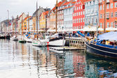 Nyhavn - waterfront, canal and entertainment district in Copenhagen — Stock Photo