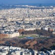 View on Luxembourg gardens and panoramof Paris — Foto de stock #8507814
