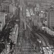 Stok fotoğraf: View over urbterminus railways