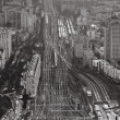 Стоковое фото: View over urbterminus railways