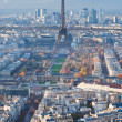 Panorama of Paris in winter afternoon — Stock Photo