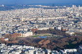View on Luxembourg gardens and panorama of Paris — Stock Photo