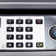 Stock Photo: Metal control panel of big copier