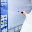 Working with touch-sensitive board — Stock Photo