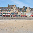 Waterfront of town Cancale in summer day, France — Stock Photo