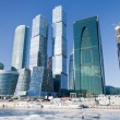 View on new Moscow City buildings in winter - ストック写真