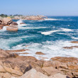 Rocks on Pink Granite Coast in France — Stock Photo
