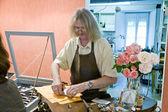In workshop of Breton goldsmith — Stock Photo