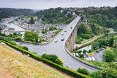 Town Dinan and river Rance, France — Stock Photo