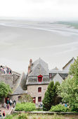 View on tidal sea bottom from Mont Saint-Michel, France — Stock Photo